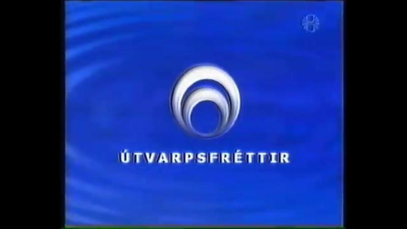 Анонс, аудиовыпуск новостей, программа передач и конец эфира (Sjónvarpið [Исландия], 30.03.2001)
