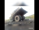 БелАЗ съехал в кювет 12 08 2017 мост р з Томусинский р з Красногорский Междуреченск
