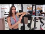 Диана Волкова (Россия) - красивая фитнес-бикини модель. Тренировка в фитнес зале с комментариями. Рекомендую!1