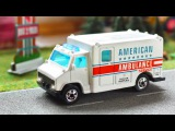 White Ambulance Car Rescue in the City +1 Hour Kids Video Compilation incl Police Car
