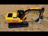 Yellow Diggers - Excavator at work - Construction Trucks 1 Hour Video - World of Cars for children