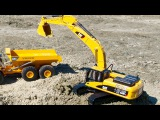 New Video for Kids with JCB Excavator and Big Truck Real Diggers in Car Cartoon
