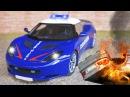 Мультфильмы для детей. Полицейская Машина и Пожарная Машина. Авария в Городке. В ...