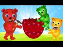 Mega Gummy bear giant surprise egg attack surprise candy finger family for kids Gummybear fun