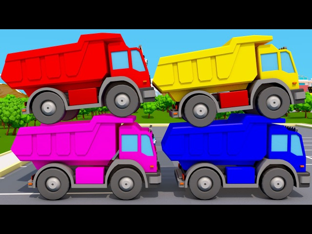 Ciężarówka i Kolorowych Kostek | Ucz się kolorów z Auta - Learn Colors for kids