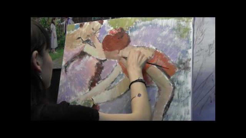 Копируем балерин Дега, импрессионизм, 2 часть, Фания Сахарова