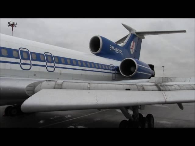 THE SIGHT THE SOUND 5/11 : Belavia TU-154M EW-85741 final flight from St. Petersburg to Minsk