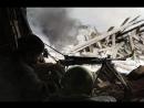 Колоризация. Солдат ведет огонь из ручного пулемета ДП-27. Сталинград