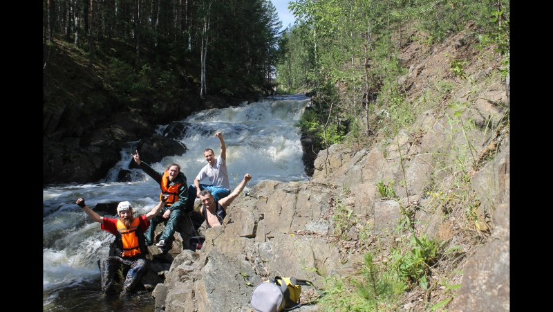 Первопрохождение порога Три Стёпы на реке Выя Прилепины Сергей и Виктор