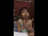 Baby girl learn countdowns