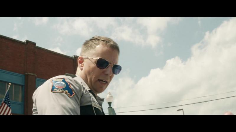 Спойлер - Диксон выбрасывает Рэда из окна - Три билборда на границе Эббинга, Миссури(Отрывок).