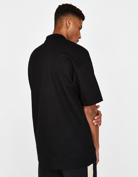 Рубашка-поло объемного кроя