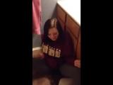 Girl pissing her pants