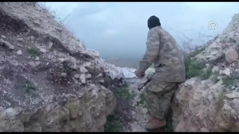 Türk Silahlı Kuvvetleri (TSK) ve Özgür Suriye Ordusu (ÖSO), terör örgütü PKKya Afrinin stratejik Cinderes bölgesinde darbe ind