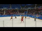 Победная шайба,на олимпиаде 2018 (снято с трибуны)