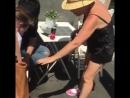 권지수(20세 바보) 얼마나 불쌍해 보였으면 이탈리아아줌마들이 테이프붙여줌 ㅠ... Рим 08.08.2017