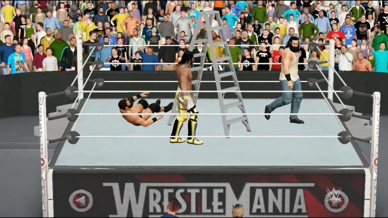 Seth Rollins VS Luke Harper VS Curtis Axel