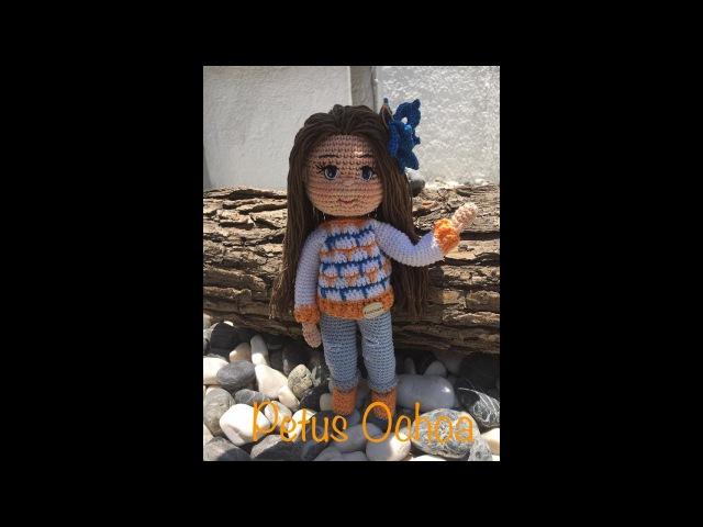 Como tejer piernas muñeca Paola amigurumi By Petus PRIMERA PARTE 1/7