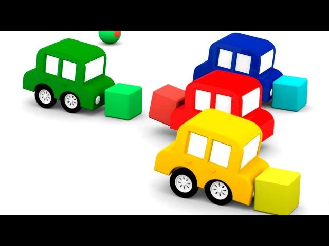 Lehrreicher Zeichentrickfilm Die 4 kleinen Autos Wir testen die neue Rennstrecke