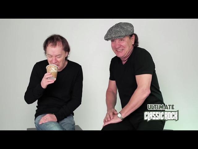 ✪✪✪ Ангус Янг и Брайан Джонсон AC DC о начале карьеры перевод 2014