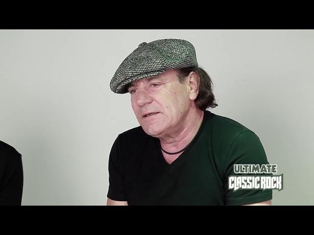 ✪✪✪ Ангус Янг и Брайан Джонсон AC DC о записи Rock or Bust перевод 2014