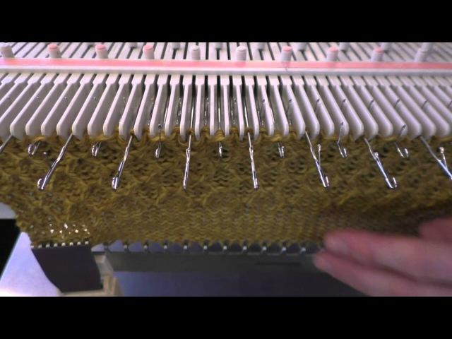 Å strikke fangmønster på LK150 Tuck stitch on LK150