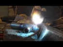 Газосварка Врезка в трубу Gas welding Cutting into a pipe