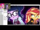 SpeedPaintKaraokeSunset Shimmer Twilight Sparkle MLPEGMLK