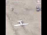 Самолет приземлился на крышу в США