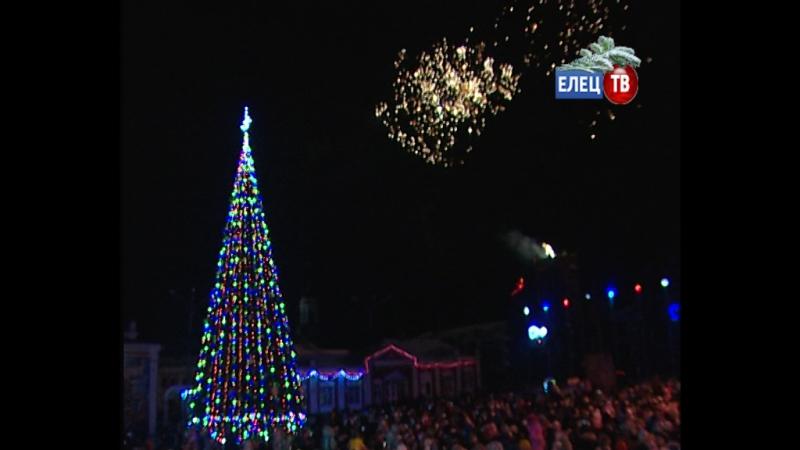 Волшебная сказка: сотни ельчан приняли участие в торжественной церемонии зажжения огней на главной новогодней ёлке города