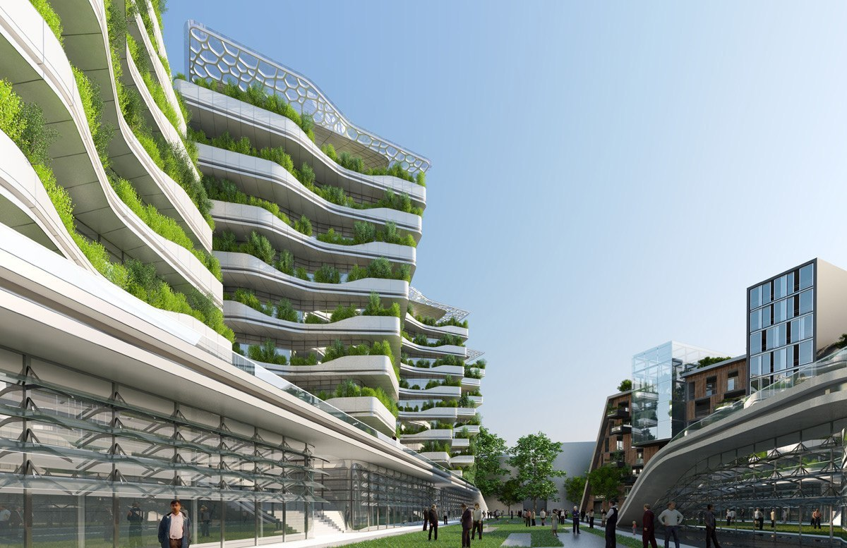 Vincent Callebaut masterplans a self-sufficient city of science in Rome
