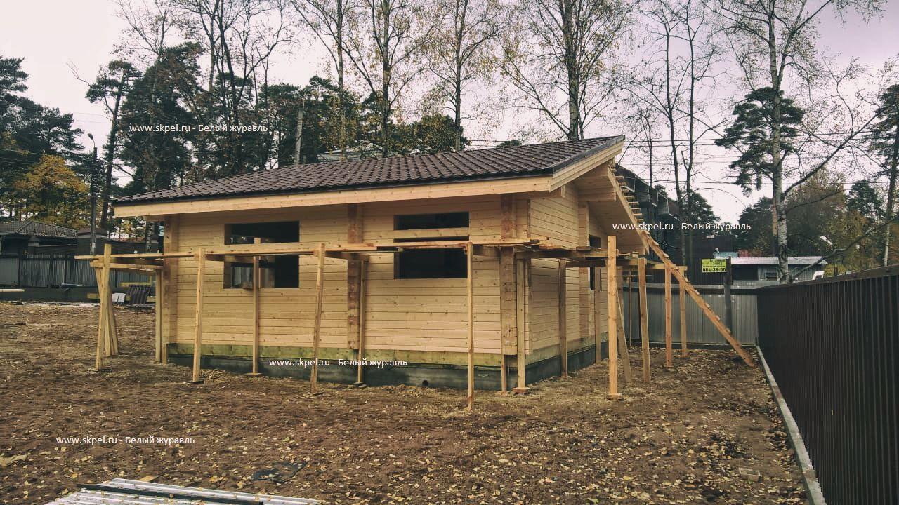 Одноэтажный деревянный дом