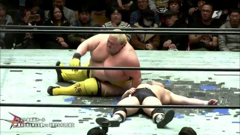 Daichi Hashimoto, Hideyoshi Kamitani vs. Ryota Hama, Yasufumi Nakanoue (BJW - Korakuen Hall - 25.01.2018)