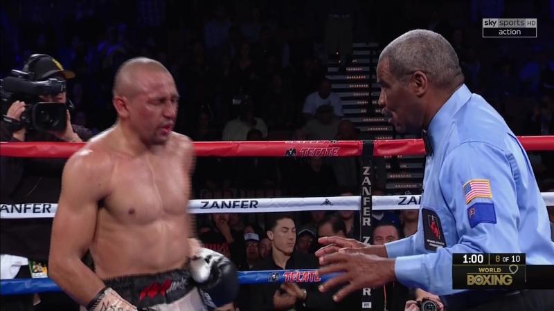 Orlando Salido vs Miguel Roman knockdown 2