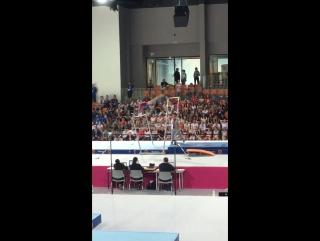 Ксения Клименко - финал на брусьях - EYOF 2017 (Венгрия)