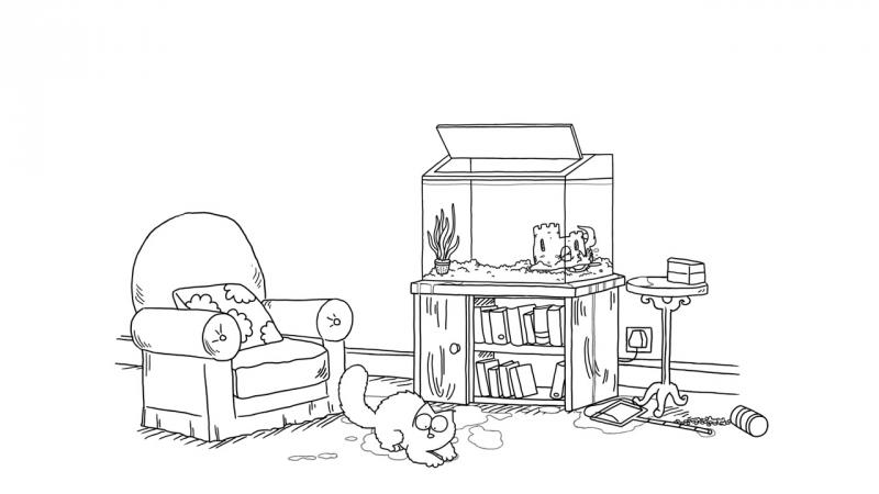 Кот Саймона / Simon's Cat - 55 серия (Fish Tank / Аквариум)