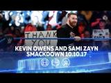 [#My1] Кевин Оуэнс и Сэми Зейн. Смэкдаун Лайв 10.10.17.