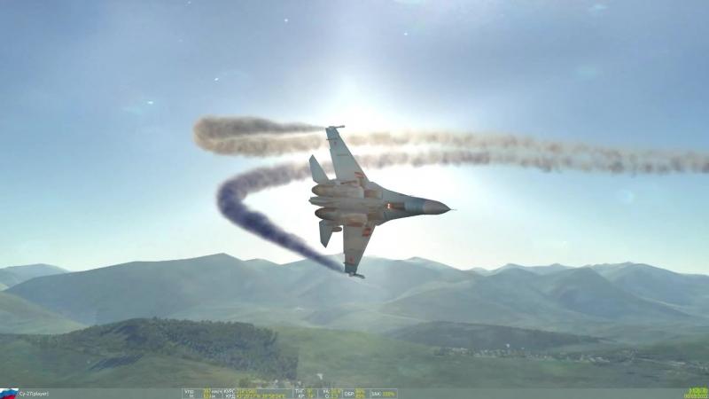 МИР АВИАЦИИ. СУ - 27. КОБРА ПУГАЧЕВА С ПОСАДКОЙ. THE WORLD OF AVIATION. SU - 27. THE PUGACHEV COBRA WITH BOARDING.