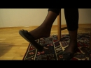 Sexy dangling and shaking in two types of shoes [foot fetish]