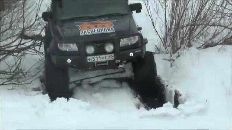 Tager Co. УАЗ Patriot - 2 блока, колеса М-ТРИМ 900мм