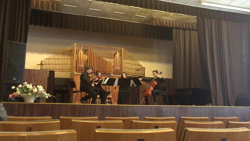 Samuel Barber. String quartet op.11 1st mvt.