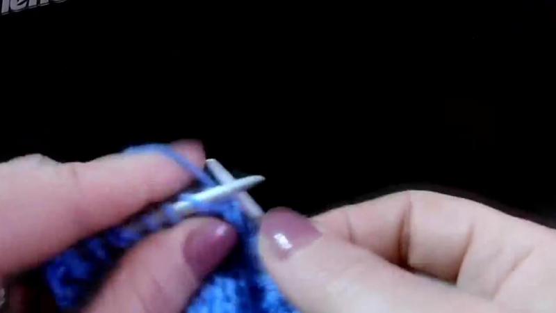 Волнистый ажурный узор Вязание спицами Видеоурок 181