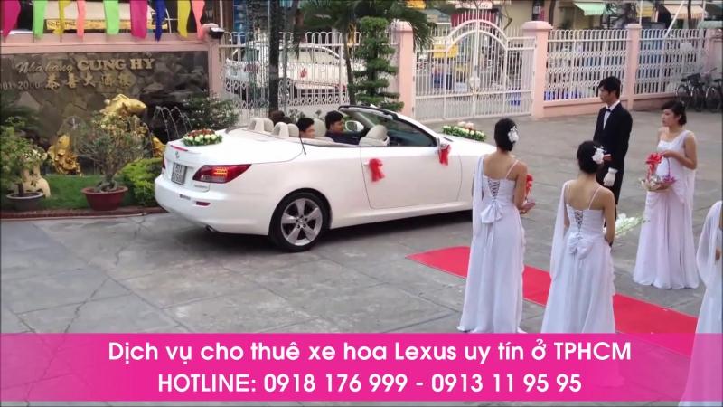 Cho thuê xe hoa mui trần lexus is 250 màu trắng tại tphcm