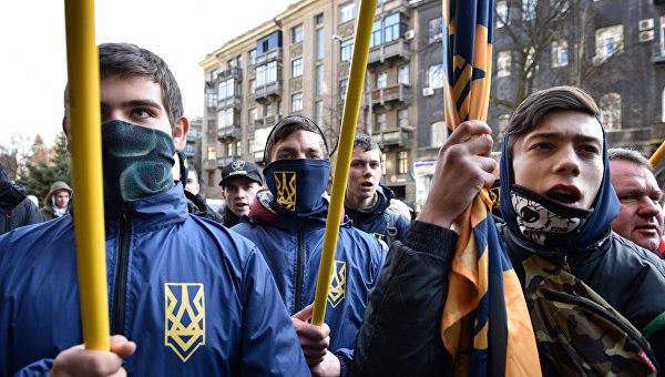 Марш националистов в Киеве попал на фото и видео