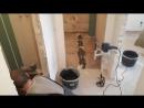 Ремонт квартир в Вологде, ЖК Белые ночи, демонтаж стяжки, заливка новой,укладка фартука
