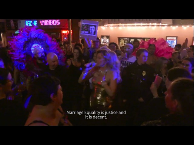 Pleasuredome with Lucy Lawless in New Zealand Australian Marriage Equality Pride Parade