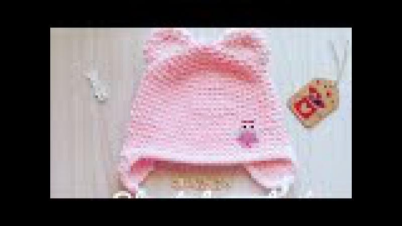 детская шапочка из плюшевой пряжи спицами