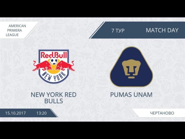AFL17. America. Primera. Day 7. New York Red Bulls - Pumas Unam.