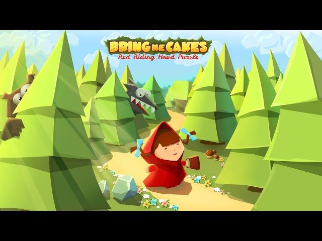 Bring Me Cakes: Little Red Riding Hood Puzzle (Мод: без рекламы) - Геймплей   Трейлер