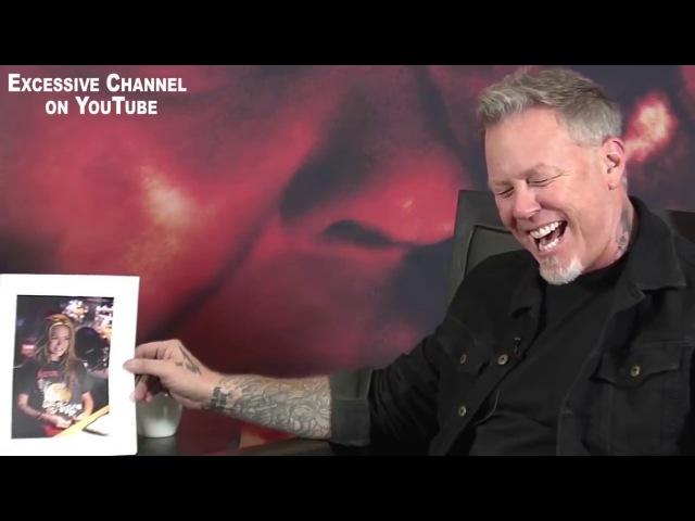 Интервью Джеймс Хэтфилд (Metallica) реагирует на футболки (2017) [русская озвучка]